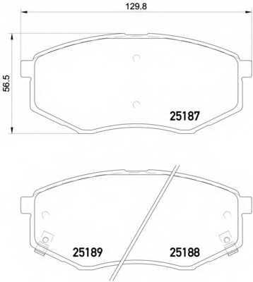 Колодки тормозные дисковые для HYUNDAI ix20(JC) / KIA SOUL(PS) <b>BREMBO P 30 055</b> - изображение