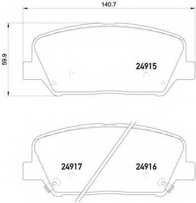 Колодки тормозные дисковые BREMBO P 30 065 - изображение