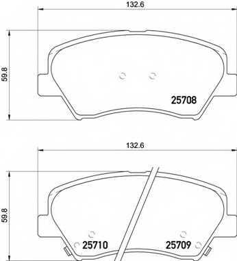 Колодки тормозные дисковые BREMBO P 30 073 - изображение