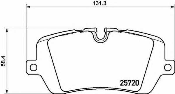 Колодки тормозные дисковые BREMBO P 44 021 - изображение
