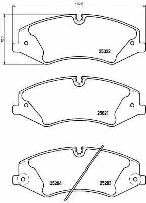 Колодки тормозные дисковые BREMBO P 44 022 - изображение