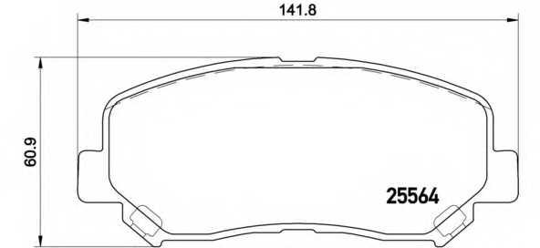 Колодки тормозные дисковые для MAZDA CX-5(GH,KE) <b>BREMBO P 49 045</b> - изображение