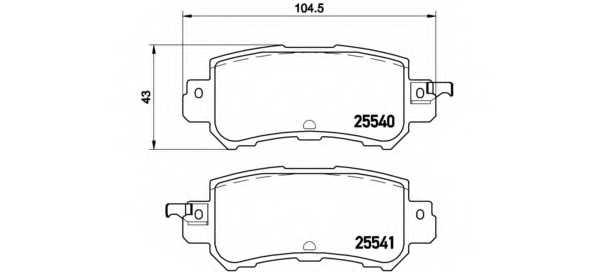 Колодки тормозные дисковые для MAZDA CX-3(DK), CX-5(GH,KE) <b>BREMBO P 49 047</b> - изображение