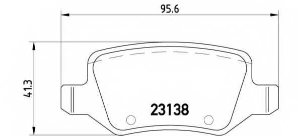 Колодки тормозные дисковые для MERCEDES A(W169), B(W245) <b>BREMBO P 50 090</b> - изображение
