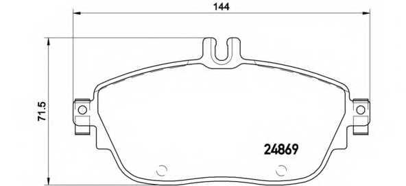 Колодки тормозные дисковые для MERCEDES A(W176), B(W242,W246), CLA(C117,X117), GLA(X156) <b>BREMBO P 50 093</b> - изображение
