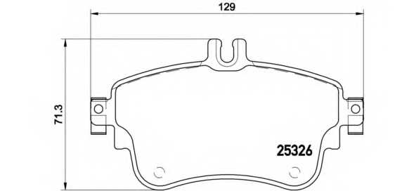Колодки тормозные дисковые BREMBO P 50 094 - изображение