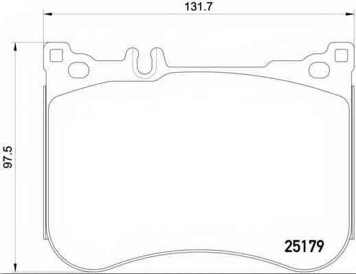 Колодки тормозные дисковые для MERCEDES SL(R231) <b>BREMBO P 50 095</b> - изображение