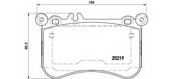 Колодки тормозные дисковые BREMBO P50098 - изображение