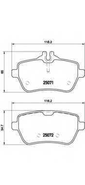 Колодки тормозные дисковые BREMBO P 50 103 - изображение