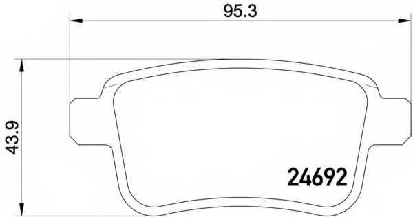 Колодки тормозные дисковые BREMBO P50107 - изображение