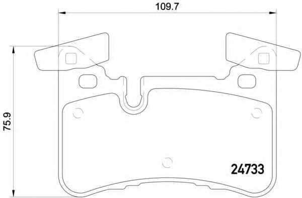 Колодки тормозные дисковые для MERCEDES C(C204,S204,W204), CLS(C218,X218), E(S212,W212) <b>BREMBO P 50 110</b> - изображение