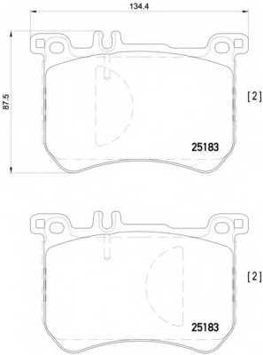 Колодки тормозные дисковые BREMBO P 50 111 - изображение
