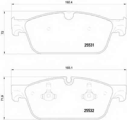 Колодки тормозные дисковые для MERCEDES GL(X166), GLE(W166) <b>BREMBO P 50 112</b> - изображение