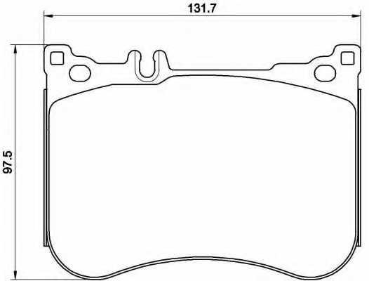 Колодки тормозные дисковые для MERCEDES S(A217,C217,V222,W222,X222) <b>BREMBO P 50 114</b> - изображение