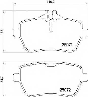 Колодки тормозные дисковые BREMBO P 50 117 - изображение