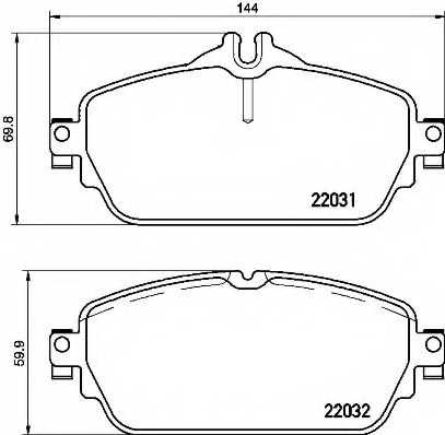 Колодки тормозные дисковые для MERCEDES C(C205,S205,W205) <b>BREMBO P 50 118</b> - изображение