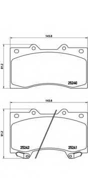 Колодки тормозные дисковые BREMBO P 56 081 - изображение