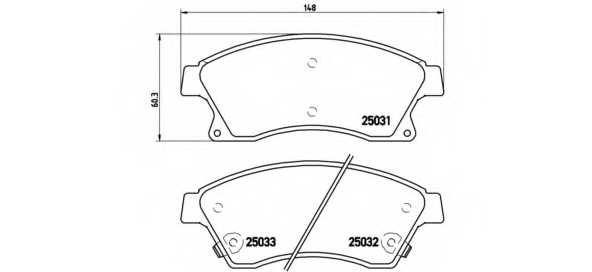 Колодки тормозные дисковые BREMBO P 59 076 - изображение