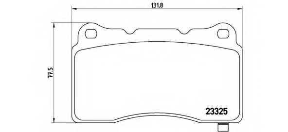 Колодки тормозные дисковые BREMBO P 59 079 - изображение