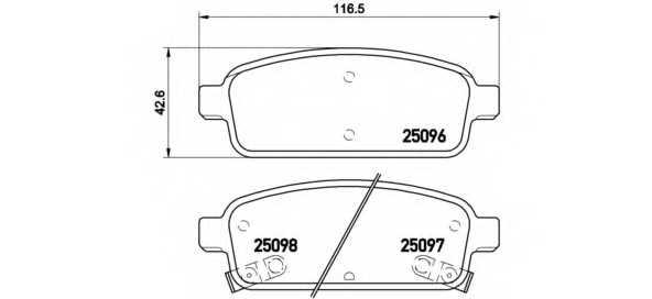 Колодки тормозные дисковые BREMBO P 59 080 - изображение