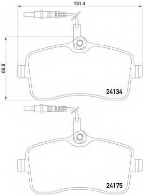 Колодки тормозные дисковые BREMBO P 61 109 - изображение