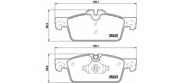 Колодки тормозные дисковые для PEUGEOT 508 <b>BREMBO P 61 112</b> - изображение