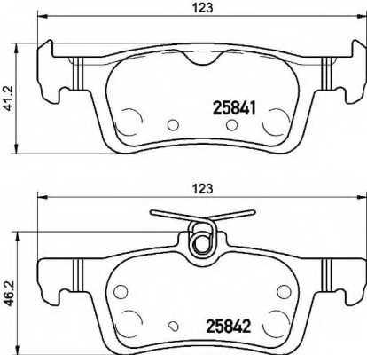 Колодки тормозные дисковые для PEUGEOT 308 <b>BREMBO P 61 121</b> - изображение