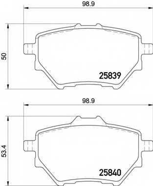 Колодки тормозные дисковые BREMBO P 61 122 - изображение