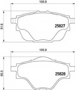 Колодки тормозные дисковые BREMBO P 61 124 - изображение