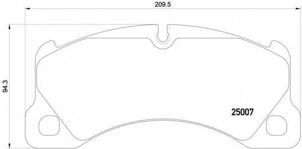 Колодки тормозные дисковые для PORSCHE CAYENNE(92A), MACAN(95B), PANAMERA(970) / VW TOUAREG(7P5) <b>BREMBO P 65 021</b> - изображение