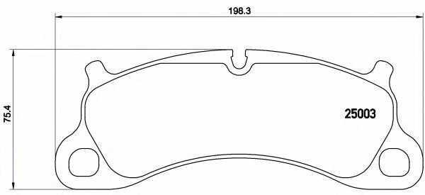 Колодки тормозные дисковые BREMBO P 65 025 - изображение