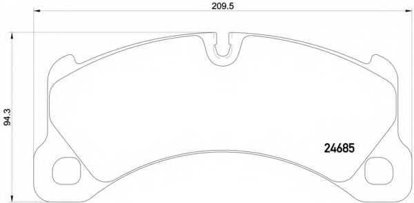 Колодки тормозные дисковые для PORSCHE CAYENNE(92A) <b>BREMBO P 65 026</b> - изображение