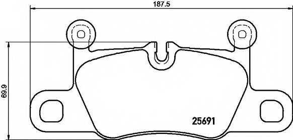 Колодки тормозные дисковые BREMBO P 65 031 - изображение