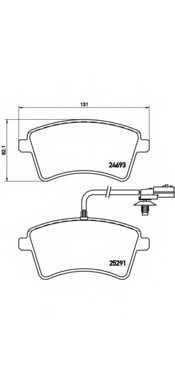 Колодки тормозные дисковые для RENAULT KANGOO Express(FW0/1#), KANGOO(KW0/1#) <b>BREMBO P 68 058</b> - изображение