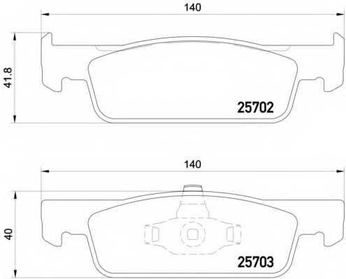 Колодки тормозные дисковые BREMBO P 68 059 - изображение