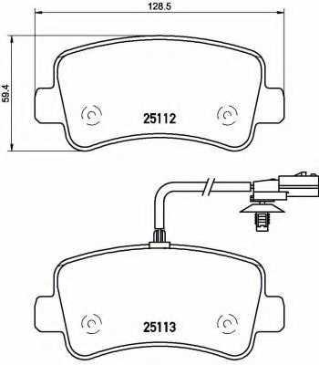 Колодки тормозные дисковые BREMBO P 68 063 - изображение