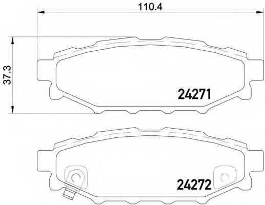 Колодки тормозные дисковые для SUBARU BRZ, FORESTER, IMPREZA, LEGACY, OUTBACK, XV / TOYOTA GT 86 <b>BREMBO P 78 020</b> - изображение