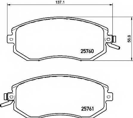 Колодки тормозные дисковые для SUBARU BRZ, FORESTER(SJ), IMPREZA(GP), LEGACY(BM,BR), OUTBACK(BM,BR), XV / TOYOTA GT 86(ZN6#) <b>BREMBO P 78 021</b> - изображение