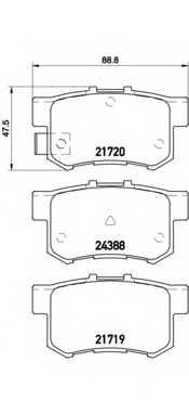 Колодки тормозные дисковые BREMBO P 79 027 - изображение