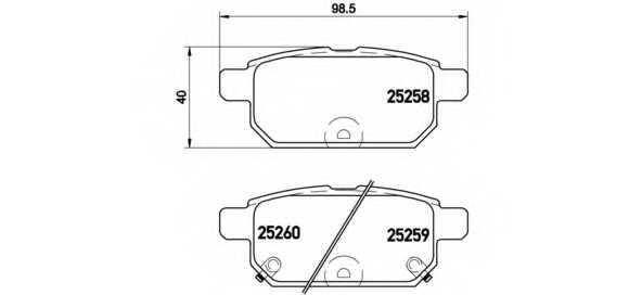 Колодки тормозные дисковые для SUZUKI SWIFT(FZ,NZ), SX4 S-Cross, VITARA(LY) <b>BREMBO P 79 029</b> - изображение