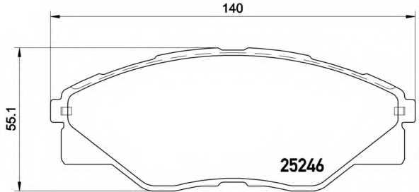 Колодки тормозные дисковые BREMBO P 83 137 - изображение