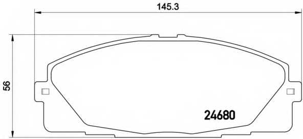 Колодки тормозные дисковые BREMBO P 83 139 - изображение