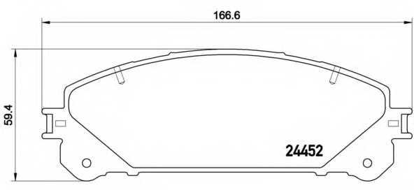 Колодки тормозные дисковые BREMBO P83145 - изображение