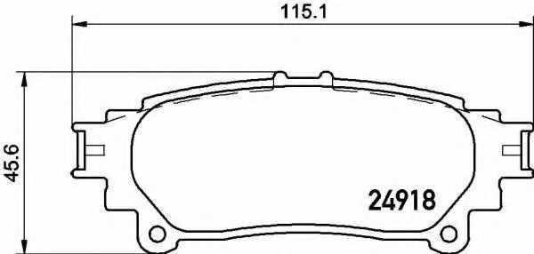 Колодки тормозные дисковые BREMBO P 83 152 - изображение