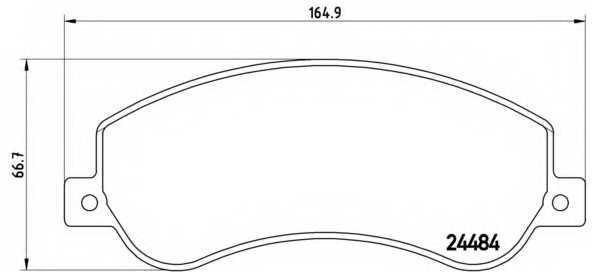 Колодки тормозные дисковые BREMBO P85115 - изображение