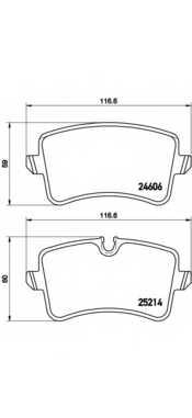 Колодки тормозные дисковые для AUDI A8(4H#) <b>BREMBO P 85 117</b> - изображение