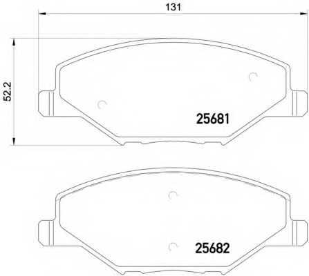 Колодки тормозные дисковые BREMBO P85121 - изображение