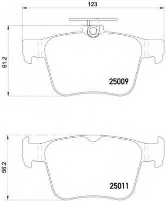 Колодки тормозные дисковые BREMBO P 85 124 - изображение