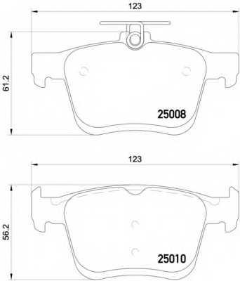 Колодки тормозные дисковые BREMBO P 85 125 - изображение