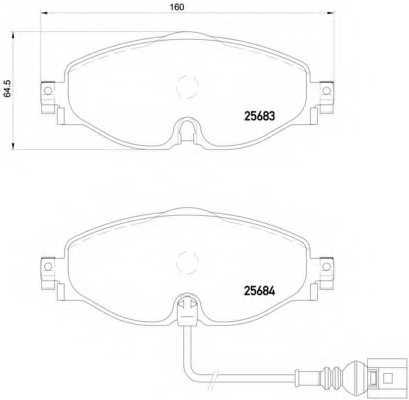 Колодки тормозные дисковые BREMBO P 85 126 - изображение